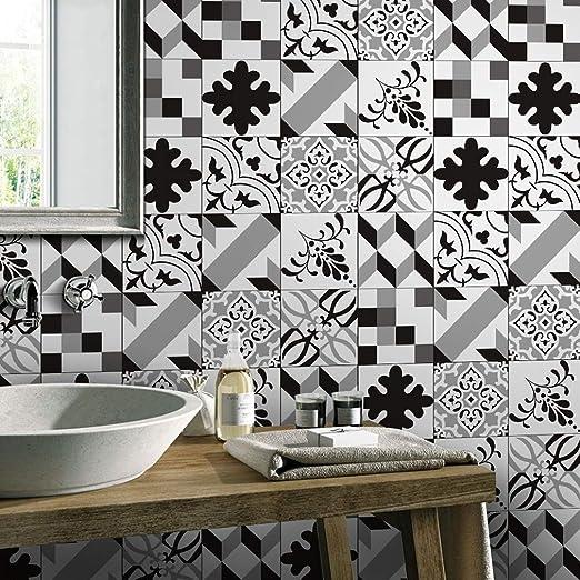 Jy Art E Mosaico En Blanco Y Negro Pegatinas De Azulejos Bano Y