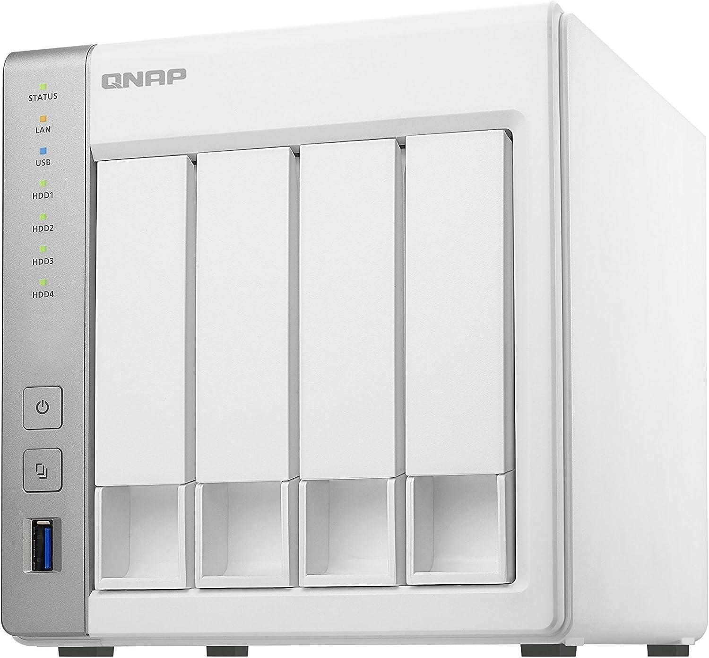 QNAP TS-431P Ethernet Torre Blanco NAS - Unidad Raid (8 TB, Unidad de Disco Duro, Unidad de Disco Duro, SSD, Serial ATA III, 2000 GB, Serial ATA II,Serial ATA III)