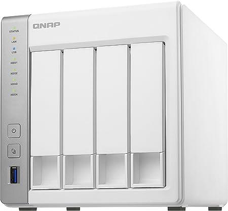 QNAP TS-431P Ethernet Torre Blanco NAS - Unidad Raid (40 TB, Unidad de Disco Duro, Unidad de Disco Duro, SSD, 10000 GB, Serial ATA II,Serial ATA III, 2.5,3.5