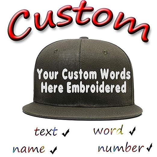 ff9ff232166 Funny Baseball Hats Unisex Cotton Hip Hop Flat Brim Snapback Hats Custom  Embroidered Caps Army Green