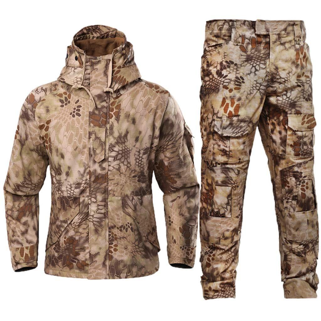 Winter Python Camouflage Anzug, Männer und Frauen für Spezialeinheiten bekämpfen Uniformen plus Samtverdickung Jacke Outdoor für Outdoor versteckt Jagd Angeln Camping Abenteuer Reiten ( größe : M )