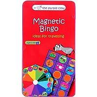The Purple Cow Viaje Magnético Juego–Coche, Juegos de avión y silencioso Juegos, Bingo Animal