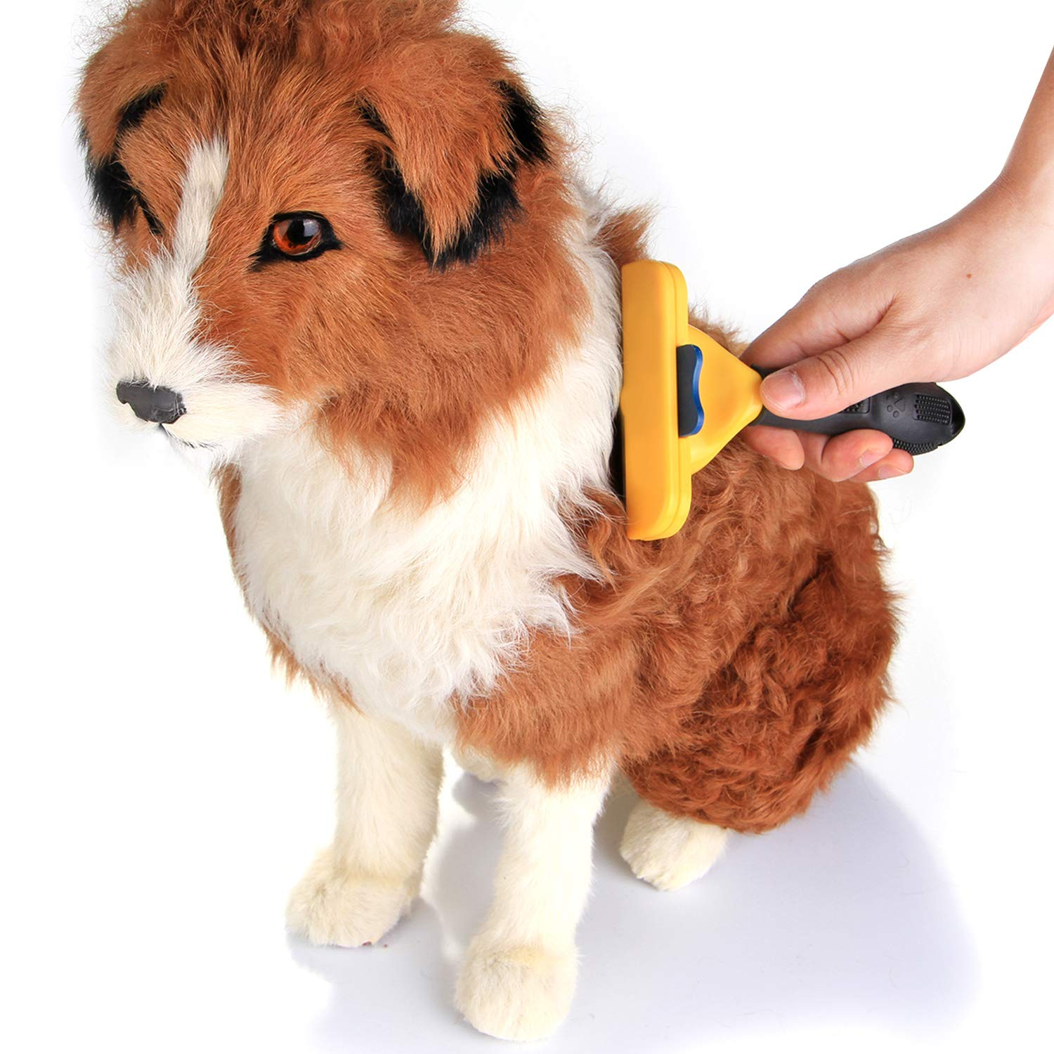 Wadeo Dog Brushes For Grooming Short Hair Shedding Long Hair Dog Grooming Brush Slicker For Labrador Cat Pet Spaniel Cockapoo