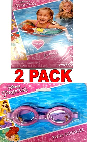 48dd8451beea Amazon.com  What Kids Want Disney Princess Swim Goggles and Disney Princess  Ariel