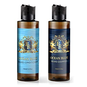 Baroque Royal Beard Wash and Conditioner Set, Premium Beard Shampoo and Conditioner Softener, Luxurious Scent, Men's Mustache and Beard Wash Kit for Less Itching and Healthier Hair, 5oz Bottles