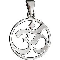 Om Aum Ohm Symbol Yoga Colgante 5g Plata de Ley BELDIAMO