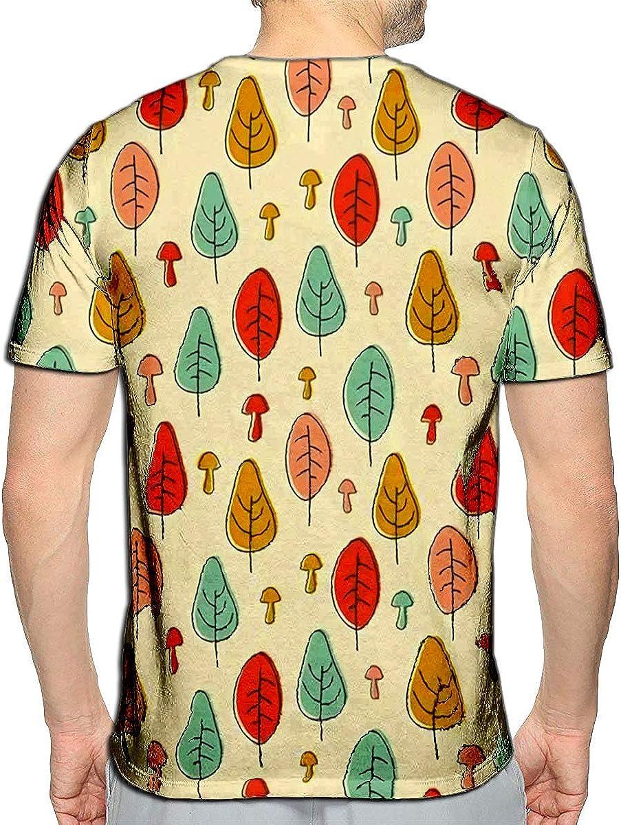 YILINGER 3D Printed T-Shirts Funny Cartoon Sloth Hanging Branch Short Sleeve Tops Tees