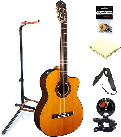 TAKAMINE gc5ce-nat 6 cuerdas de nailon acústica guitarra eléctrica ...