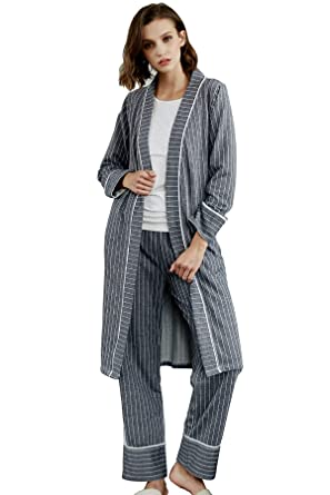 117f80eade605 Epinmammy Women's 3 Piece Maternity and Nursing Pajama Set Breastfeeding Top  and Pants Nursing Robe with