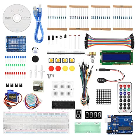 INLIFE Kit Arduino, Conjunto Completo de Iniciación a Arduino UNO ...
