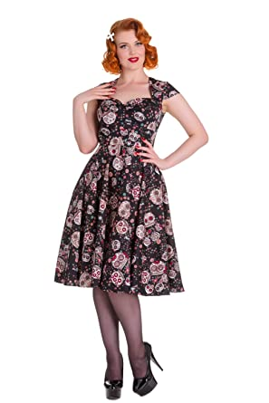 Hell Bunny Sasha Skull Love Punk Pinup Dress At Amazon Womens