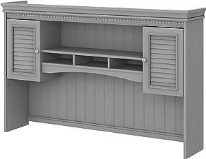 Bush Furniture Fairview Hutch for L Shaped Desk, 60W, Cape Cod Gray