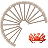 16Pcs Wooden Crab or Lobster Mallets, Nature Hardwood Hammers