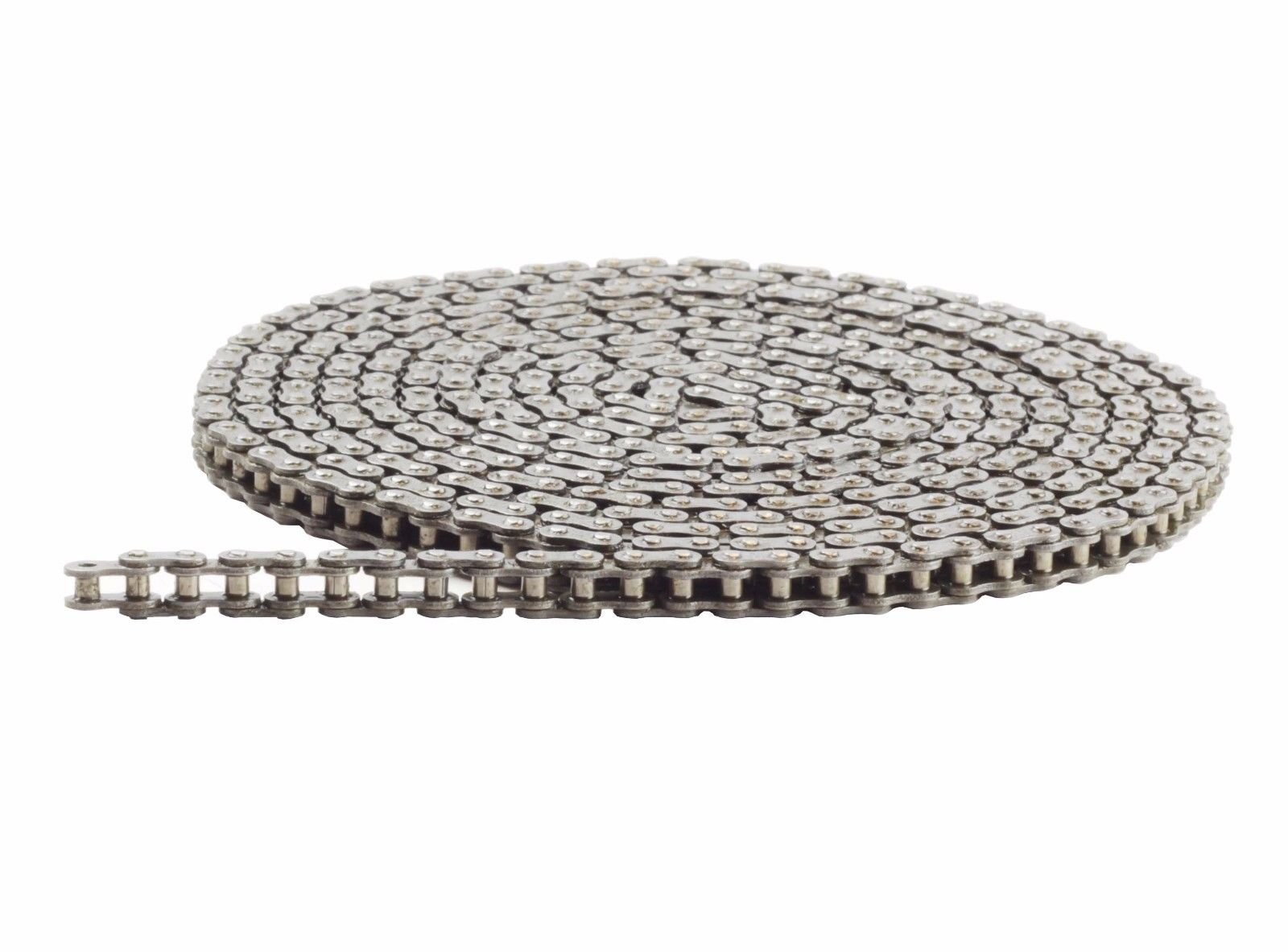 35H Heavy Duty Roller Chain 10 Feet with 1 Connecting Link, 35H Chain