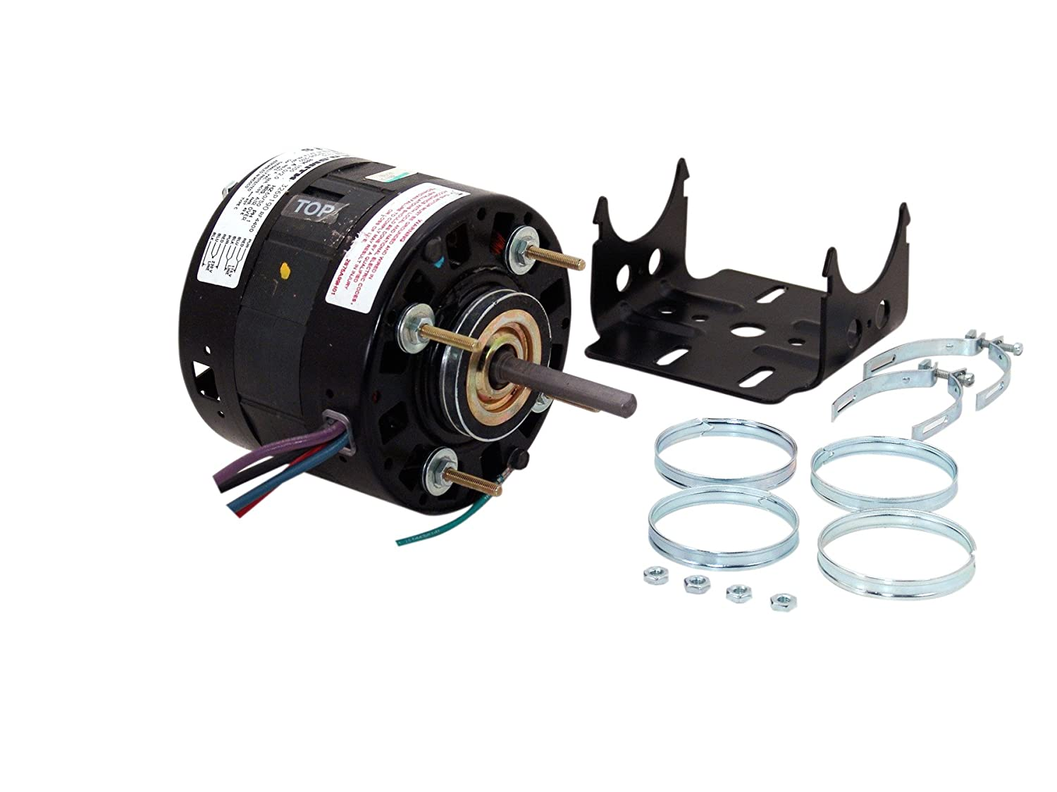 CCWSE Rotation Open Enclosure Sleeve Bearing General Purpose Shaded Pole Motor Century Electric//AO Smith Motors Co A.O 3//8 by 2-1//2 Shaft Smith RF4401 5.0-Inch 1//10 HP