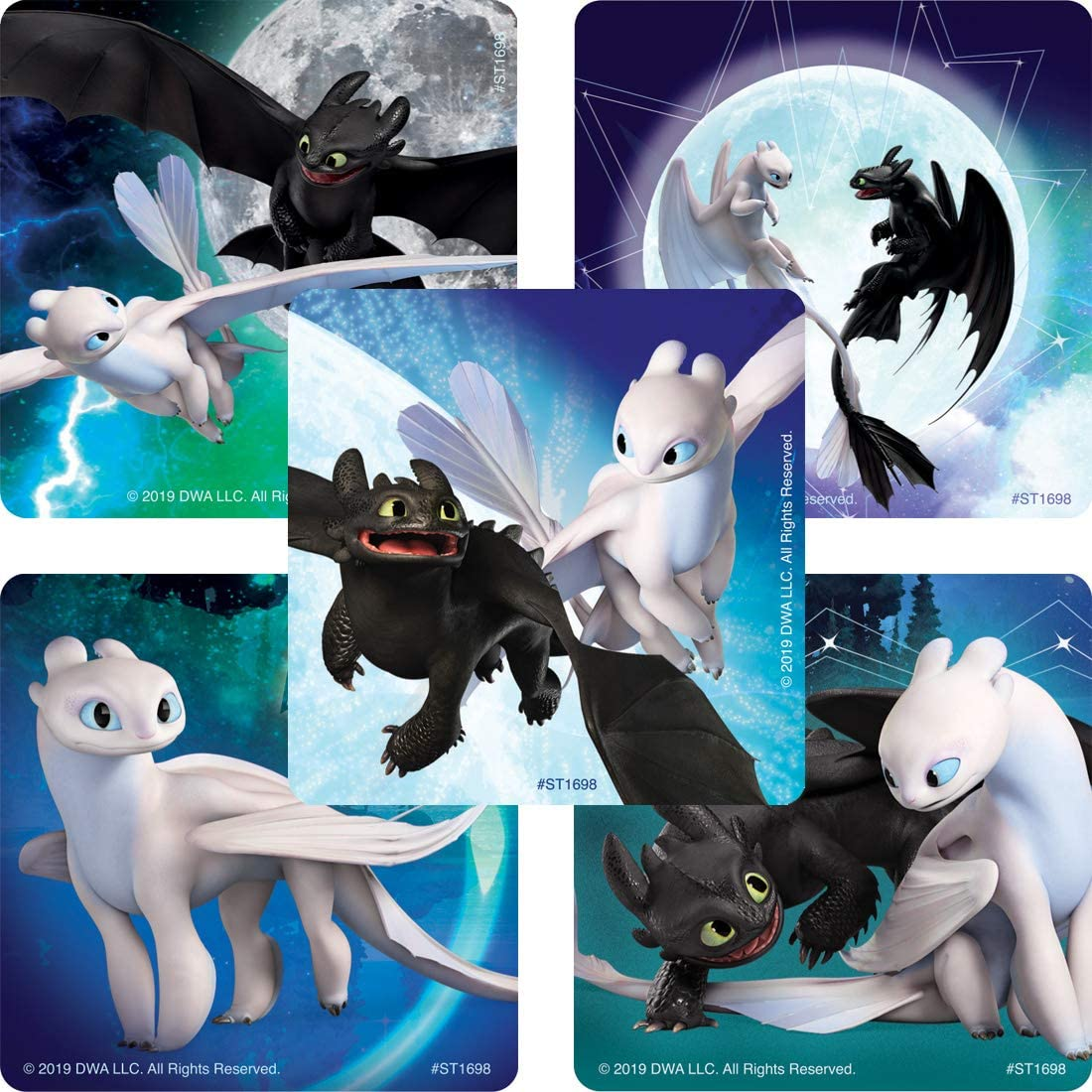 4 Unique Industries How to Train Your Dragon Sticker Sheets