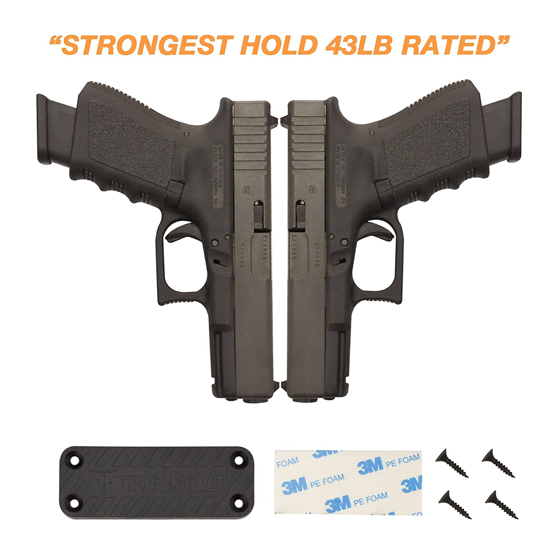 ガンマグネットmount-powerful n52 43lb定格磁気ホルスター車、トラック、車の&ホーム使用 – Concealed Firearmホルダーwith傷防止ゴムコーティングHandgunsの、Rifles、12ゲージ、Pistols B0798V661T