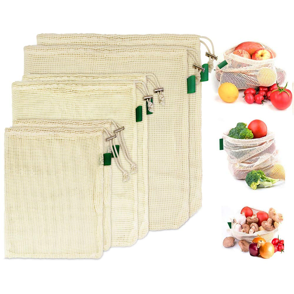 Amazon.com: BUZIFU Reusable Cotton Bag, Organic Cotton ...