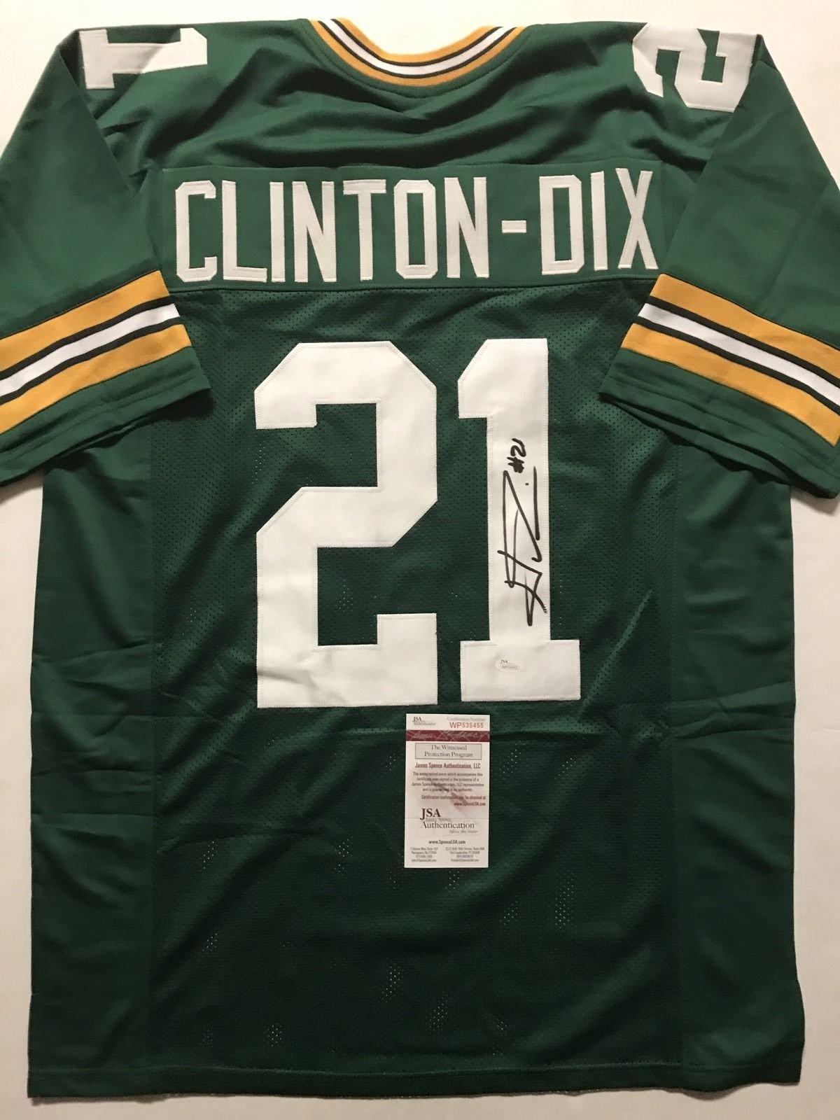 Autographed/Signed Ha Ha HaHa Clinton Dix Green Bay Green Football Jersey JSA COA