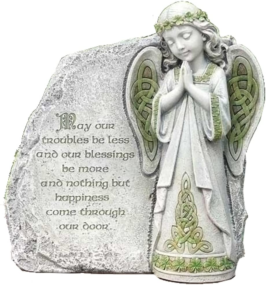 Roman Joseph Studio Irish Angel Praying Outdoor Garden Stone Decoration 64378 New