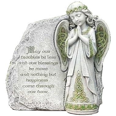 Joseph Studio Irish Angel Praying Outdoor Garden Stone Decoration 64378 New
