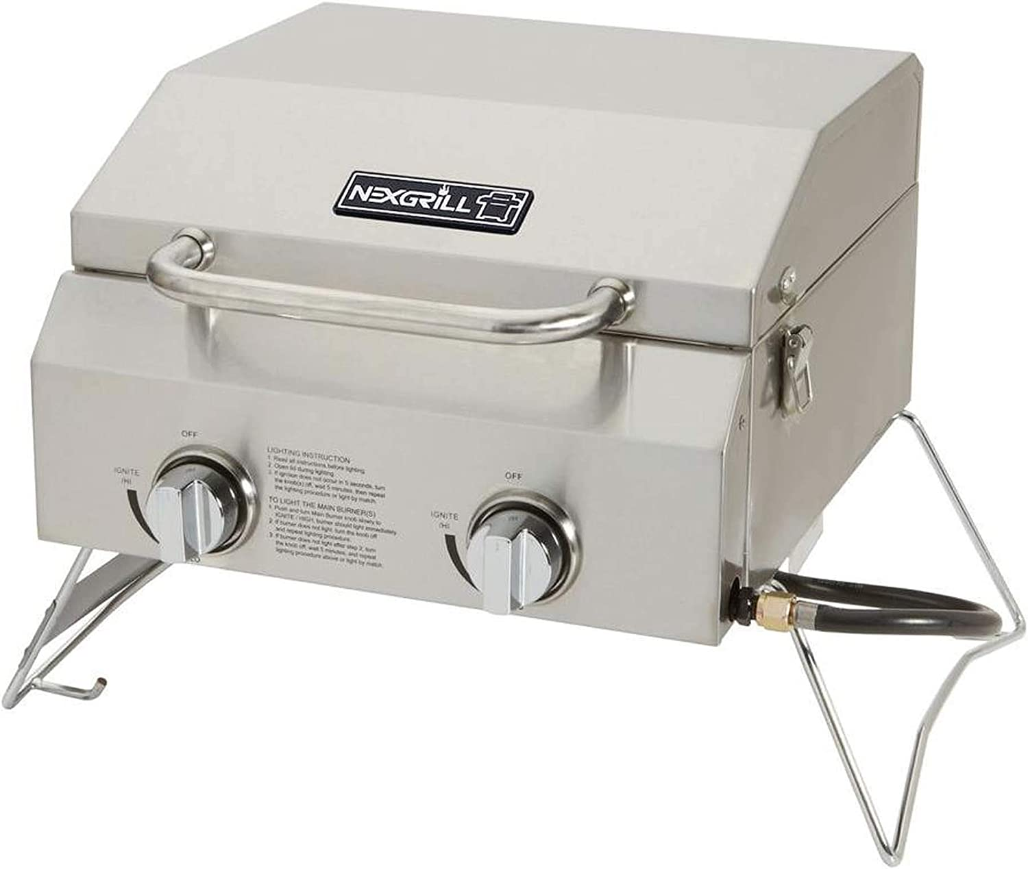 Char-Broil Classic 360 3-Burner Liquid Propane Gas Grill with Side Burner Renewed