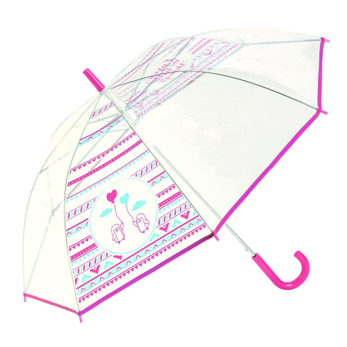 Paraguas juvenil transparente chica