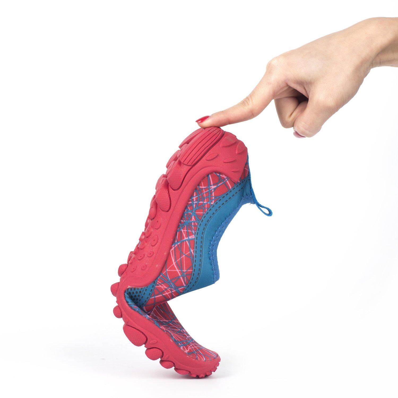 Hishoes Hombres Mujeres Muy Suave Zapatos de Agua de Playa Unisex Secado R/ápido descalzo Aqua Zapatos Deportivos Para Surf nataci/ón Yoga