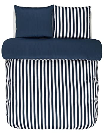 Marc O Polo Bettwäsche Classic Stripe Indigo Blue 200x220 Cm 2x