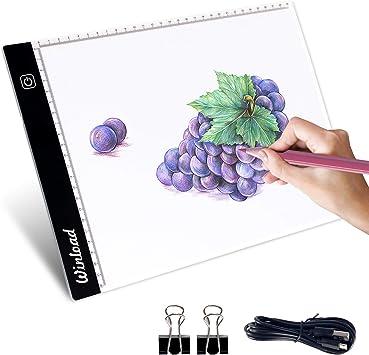 Winload Mesa de Luz Dibujo A4, 3,5 mm Delgado Copia de la Junta ...