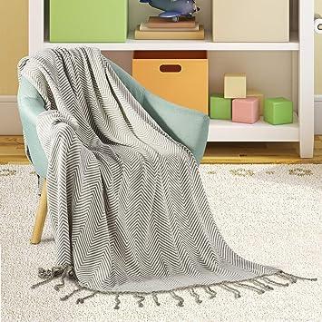 Uarter Gestrickte Decke 100 Baumwolle Bettwasche Decke Leichte Sofa