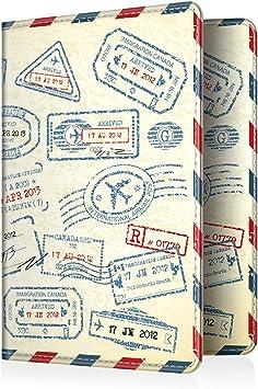 Marble Carte dembarquement Fintie Porte-Passeport Housse Voyage Protecteur Portefeuille Pochette /étui de Protection pour Passeport Carte didentit