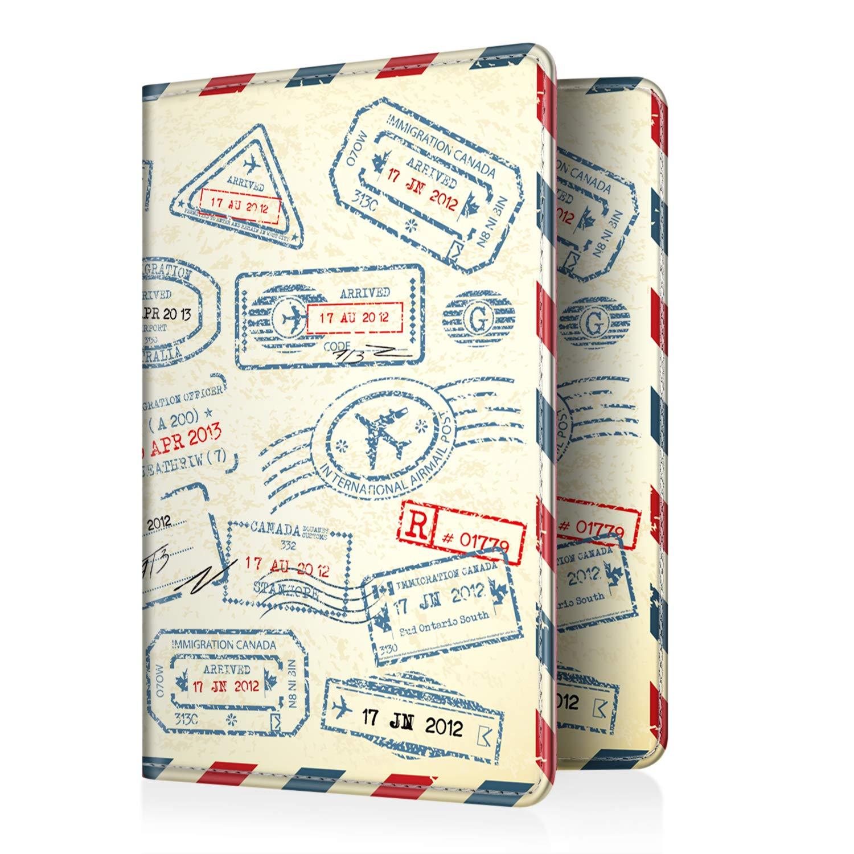 Fintie Reisepass Schutzhülle - Premium Kunstleder Reisepasshülle Halter mit RFID Blockier für Kreditkarten, Ausweis und Reisedokumente, Liebesbaum APPA002EU