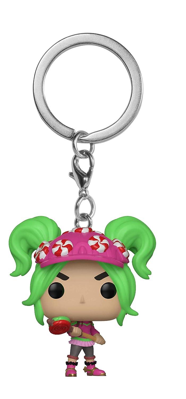 Funko Pop Fortnite Keychan Chica con cabello verde y gorra con dulces