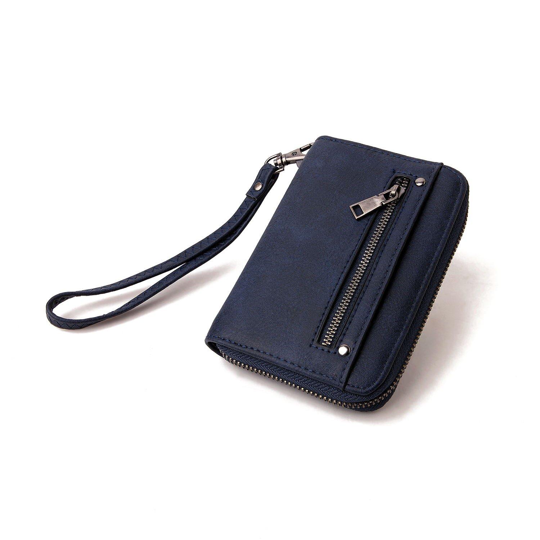 Leather Wallet for Women Credit Card Holder Durable Luxury Elegant Clutch Purse Zipper BuckleFashion Delicate Ladies' Wallet
