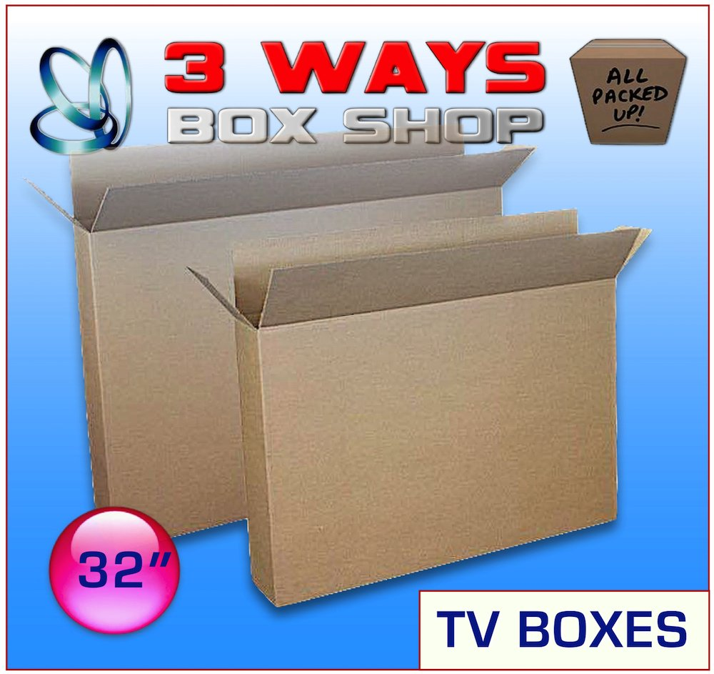 Upto 32 TV LCD Double Wall//Double Flap Plasma Screen Picture Artwork Frame House Removal Box