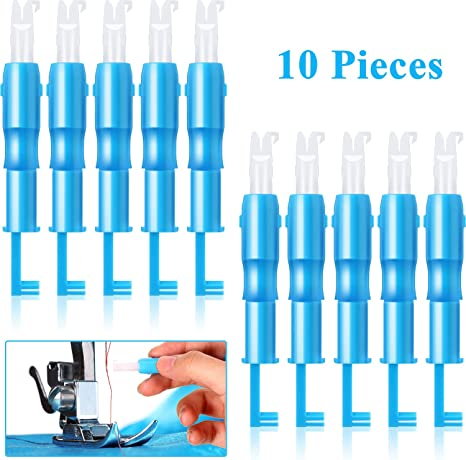 EASY TO USE 10 X SILVER WIRE NEEDLE STITCH THREADER.