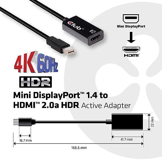 amazon com club3d cac 1180 active mini display port 1 4 to hdmi 2 0 rh amazon com