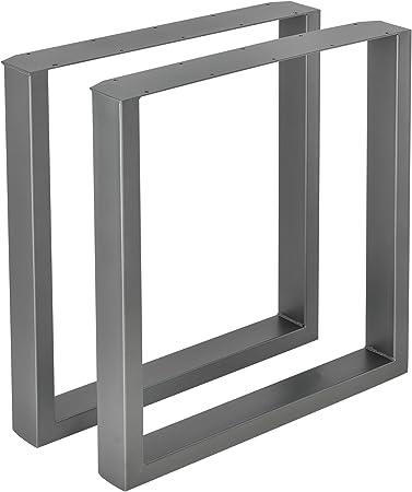 en.casa] 2 x Conjunto de Patas de Mesa - Set de 2X Patas de Mesa - Metal -