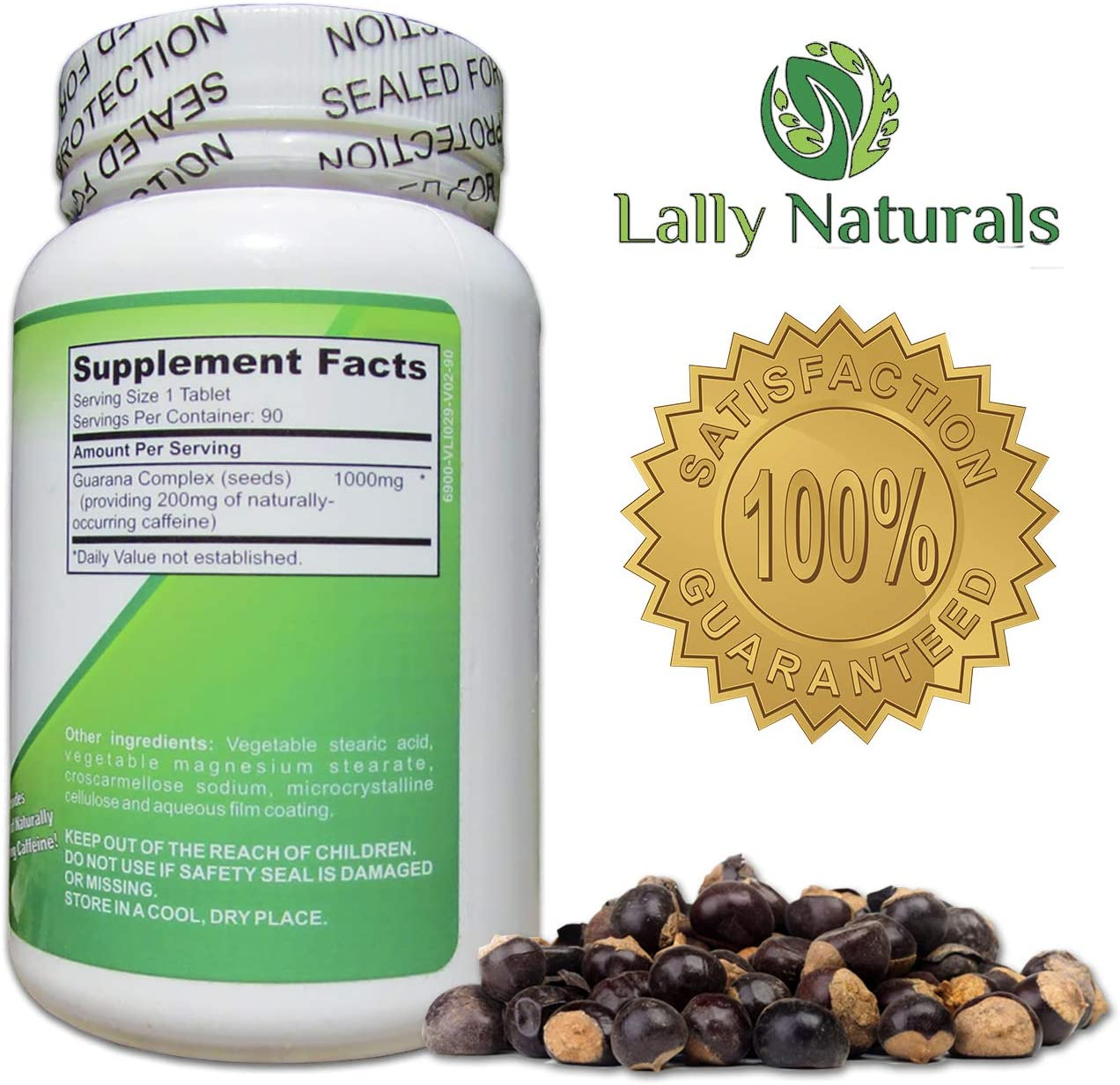 Pure Guarana Seed Extract 1000 mg - Amazon Rainforest ...