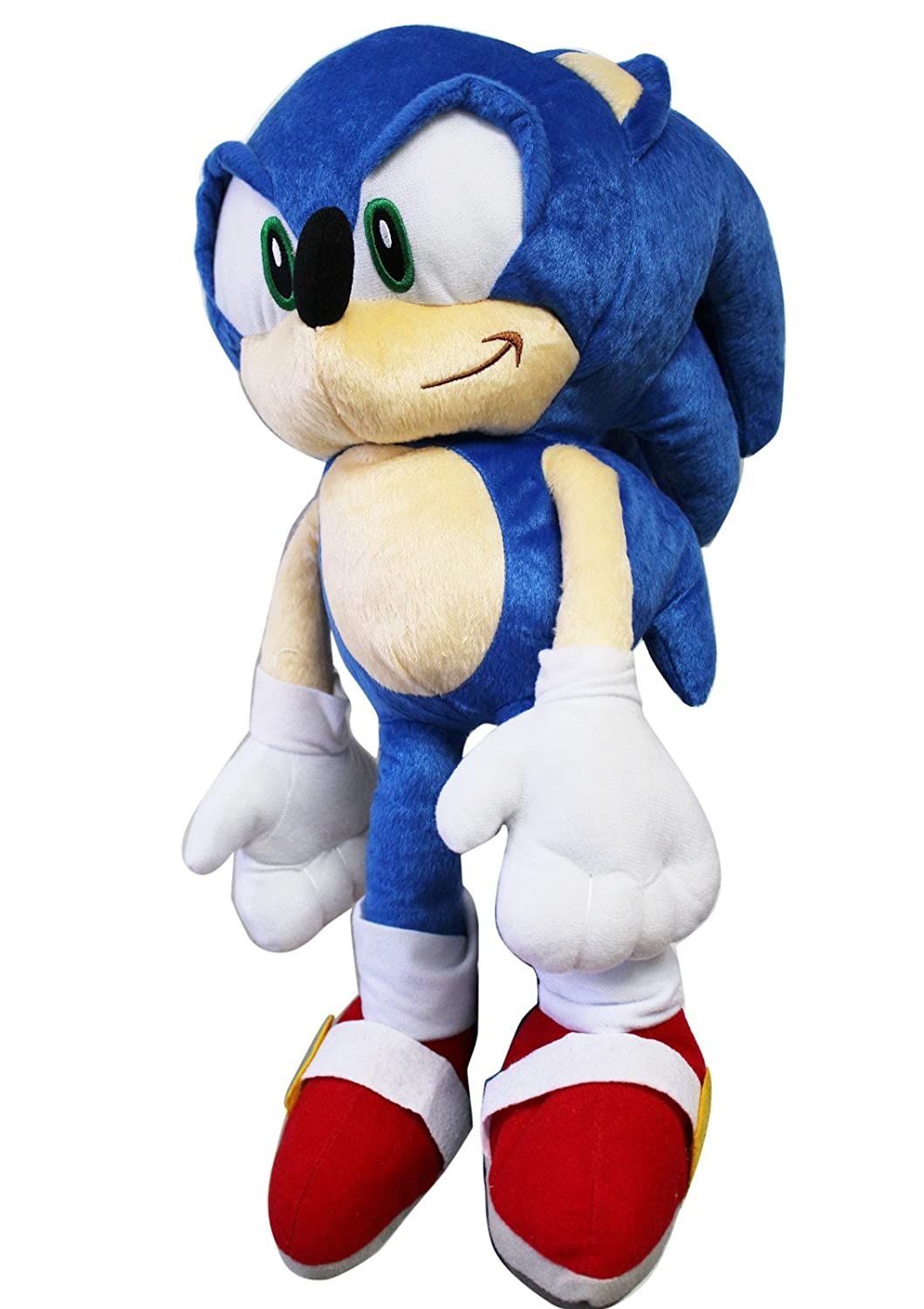 Sonic the Hedgehog Large Größe Kids Plush Toy With Secret Zipper Pocket (17in) by Sonic The Hedgehog