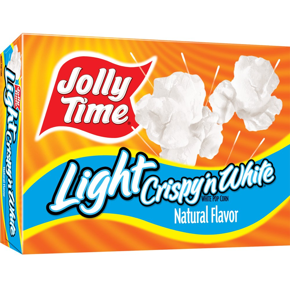 Jolly Time Crispy 'n White Light Natural Microwave Popcorn, 3-Count Boxes, 9 oz, (Pack of 12)