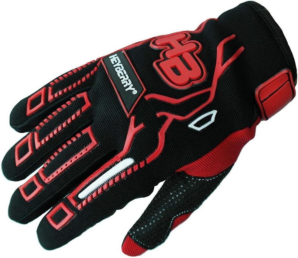 Heyberry Motocross Mtb Mx Handschuhe Schwarz Rot Gr S Auto