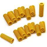 DGQ 8mm OD 20mm Long Light Load Compression Mould Die Spring Yellow 20pcs