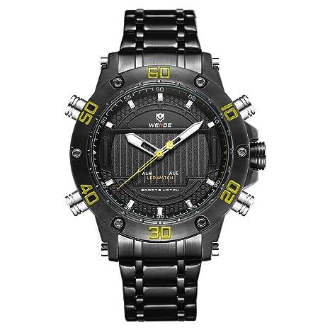 HWCOO WEIDE Reloj de Acero para Hombres con Mesa electrónica ...