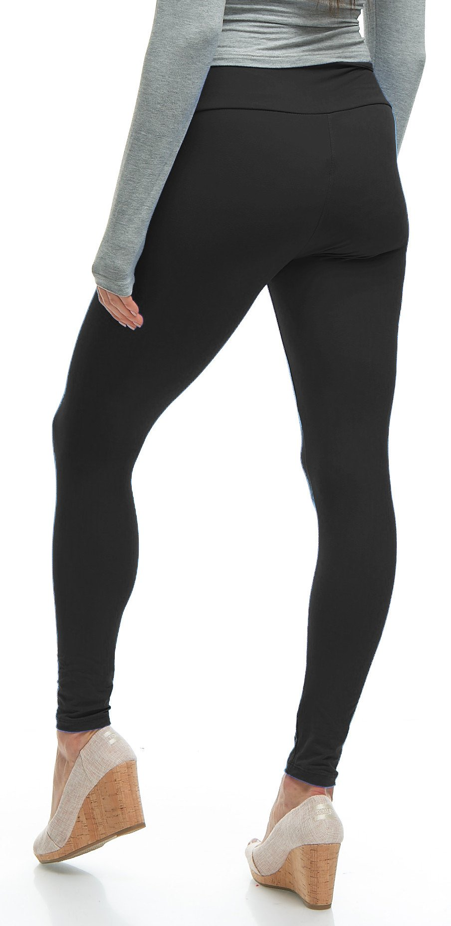 LMB Yoga Leggings Buttery Soft Material - Variety of Colors - Black by LMB (Image #6)