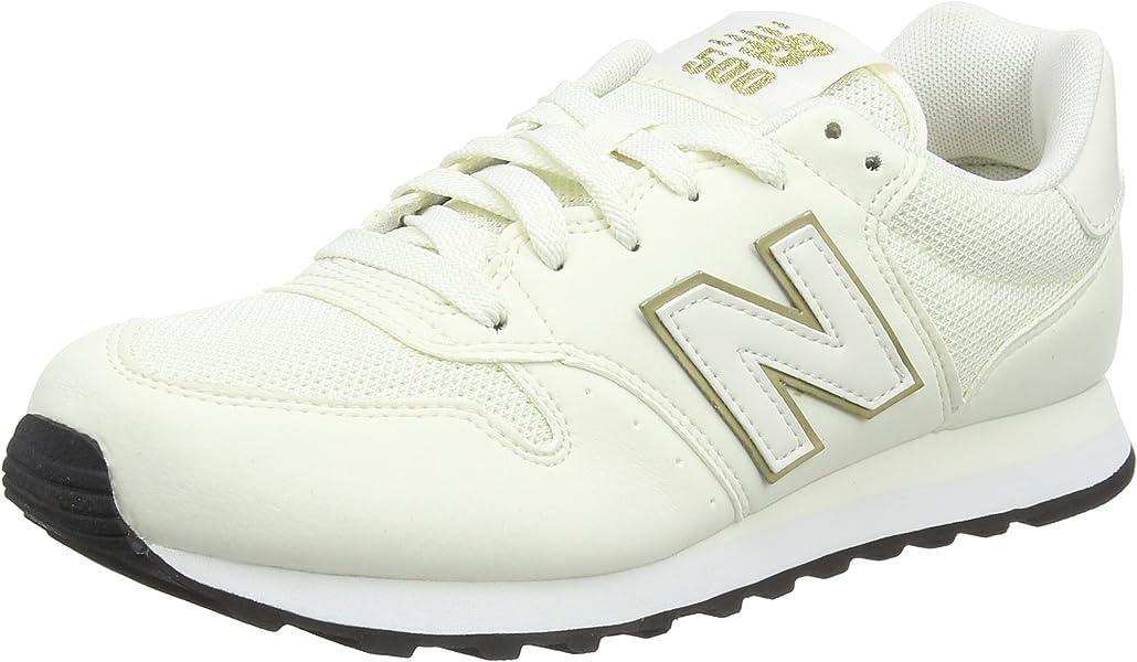 474295463d New Balance 500, Scarpe Sportive Donna, Bianco (White/Gold), 36 EU ...