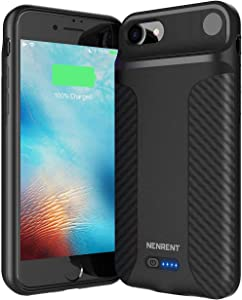 True Wireless Battery Case for iPhone 8/iPhone SE(2020) 5000mAh Charging Protective Case Rechargeable Extended Battery Pack Case for Apple iPhone 8/iPhone SE(2020) Backup Power Bank (4.7')