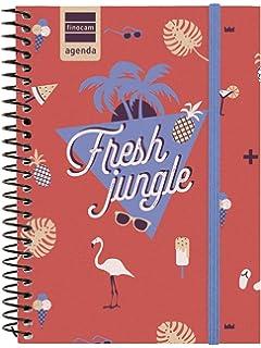 Finocam Prints - Agenda Septiembre 2018 - Agosto 2019 , Multicolor (Jungle), 120