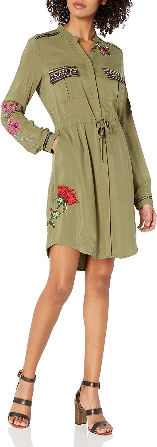 Desigual Womens Alabanza Woven Long Sleeve Dress